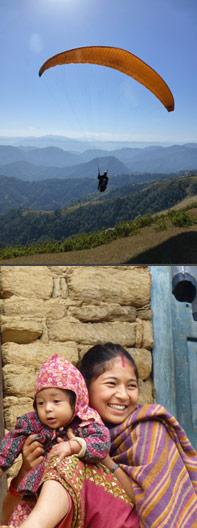 parapente nepal 2012