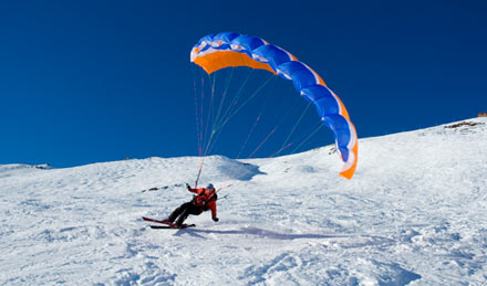 parapente speed flying ski